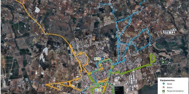 Rede de transportes públicos urbanos de Olhão alargada